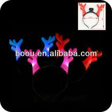 Hallowmas devil horn,Flashing Deer horn flashing led bopper