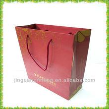 Custom cotton handle men's shopping paper bag
