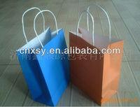 high quality&cheap kraft paper handle shopping bag