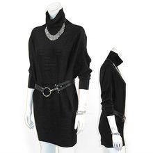 Black velvet long sleeves stretch tunic dress maternity tunic