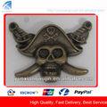 Cowboy cd5504 crânio custom etiqueta do metal para bolsas, caps