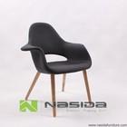 CH113 Replica Wingback Easy Black Modern Wood Dining Set Saarinen Organic Chair