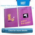 venda quente mais recente 2013 saudação de aniversário placas de vídeo