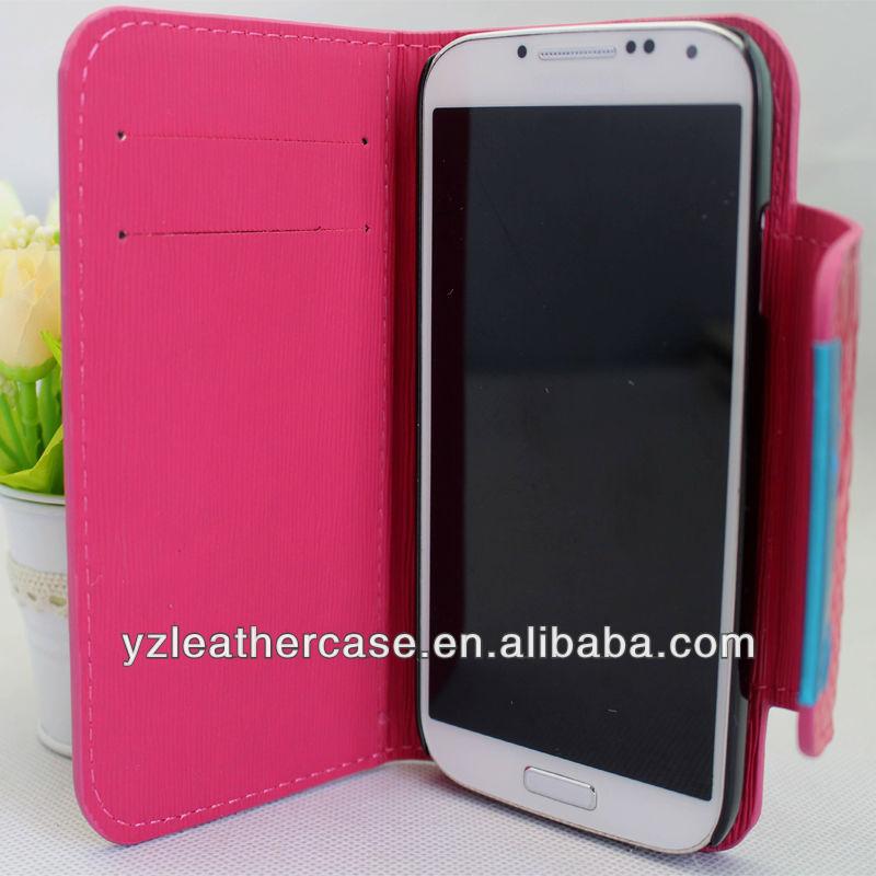 أحدث تصميم مصنع قوانغتشو 2013 تغطية الهاتف المحمول الهاتف الخليوي الغطاء الخلفي لحقيبة جلد سامسونج مصغرة s4 i9190/ i9192/ i9195