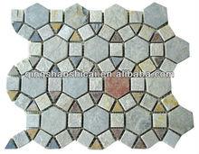 "Autumn Mist Slate Autumn Mist 2"" x 2"" Beehive Natural Cleft Multi-Surface Mosaic Tile"