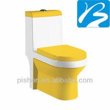 Yellow Color Ceramic Toilet Sanitaryware
