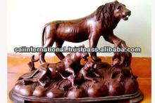 indian made rose wood lion