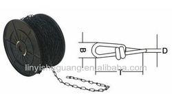 DIN 5686 Steel Galvanized Knottet Chain