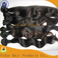 100% Unprocessed Indian Virgin Human Remy Hair Weaving Natural Wavy