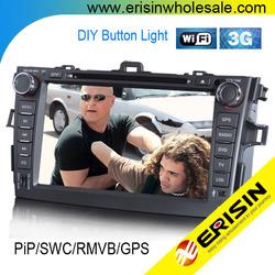 "Erisin ES1018K 8"" COROLLA Car Radios GPS PiP 3G Player UK STOCK"