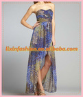 Hotsale ladies Peacock Print Maxi Dress