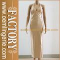 Moda Golden off- donna spalla profondità V- al collo abito da sera