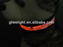 Attractive and Lighting led pet collar for dogs LED pet collar Teddy bear logo Optical fiber collar