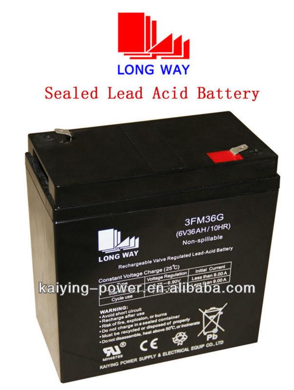 6V36ah TV rechargeable VRLA battery