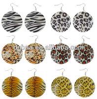 Attractive Acrylic Earrings Leopard n Tiger Spot Earring Manufacturer Wholesale,Fashion 2014 Drop Earrings for Women