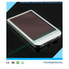 Factory cheapest price high efficiency solar panel 2600mAh mini solar power bank for all smart phones