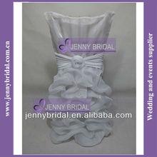 C019C hot sale white organza chair sash,chair covers for wedding