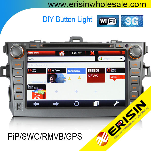 "Erisin ES1018K 8"" COROLLA Car Radios GPS PiP 3G Player"