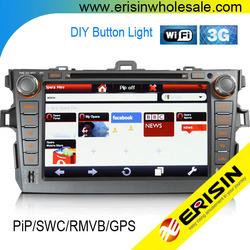 "Erisin ES1018K 8"" COROLLA Car Radios GPS PiP 3G Player"