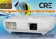 R.G.B 3LED Full HD 1920x1080 2500lms LED Projector