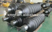 Track tensioner for excavator steel tracks