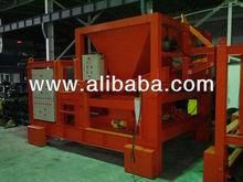 Concrete sleeper production machines