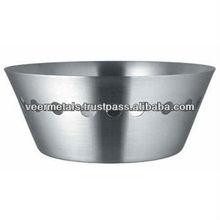 STAINLESS STEEL BREAD BASKET/TABLEWARE