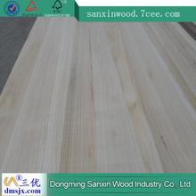 paulownia edge glued solid wood panels