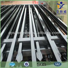 1.0-2.1m Galvanize & powder coated types of metal fences