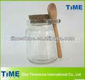 250ml frasco de vidrio transparente con tapón de corcho de la tapa superior
