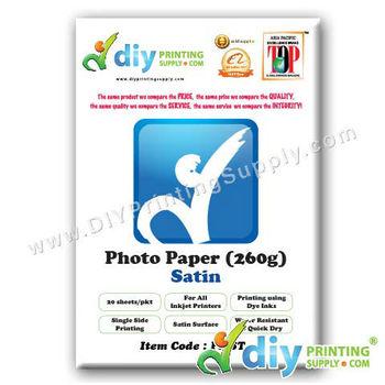 Photo Paper 260g (Satin) (20 sheets/pkt)