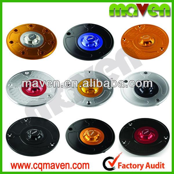 Quality Maven Custom Aluminum CNC Motorcycle Fuel Caps For KAWASAKI Z750 Z100 ZX6R 2007-2012