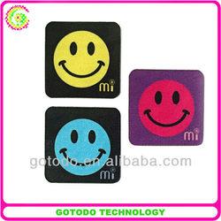 Microfiber sticker mobile screen cleaner