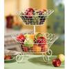 PF-FB017 2 tier metal fruit basket