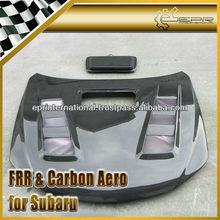 For Subaru Impreza GRB Carbon Fiber A-Style Vented Hood Bonnet