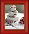 recuerdos de la boda pastel en forma de marco de fotos 2014