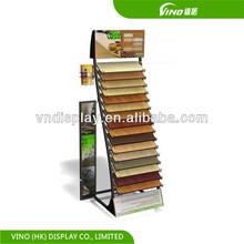 custom etail store convenience store display mdf wood flooring rack multi shelves
