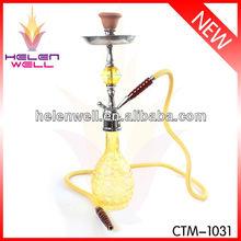 Yellow Shisha Hookah With Glass Water Smoking Pipes