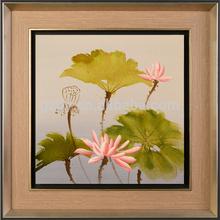 beautiful floating crystal lotus flower painting