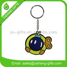 PVC Rubber Cartoon Keyring, Custom Rubber Keychains