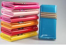 cheap party clutch purse for ladies ,women ladies long pu clutch wallet purse