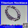 Silicone Trendy Statement Titanium Ion Sports Necklace