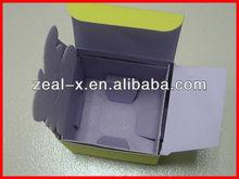 High quality luminous yellow printed card box for 3.4 FL.OZ/100ml perfume packaging