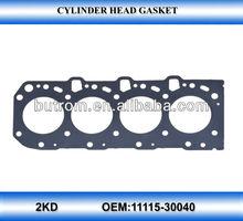 Cylinder Head Gasket for Toyota 4runner/hilux/vigo diesel engine 2kd-ftv 11115-30040