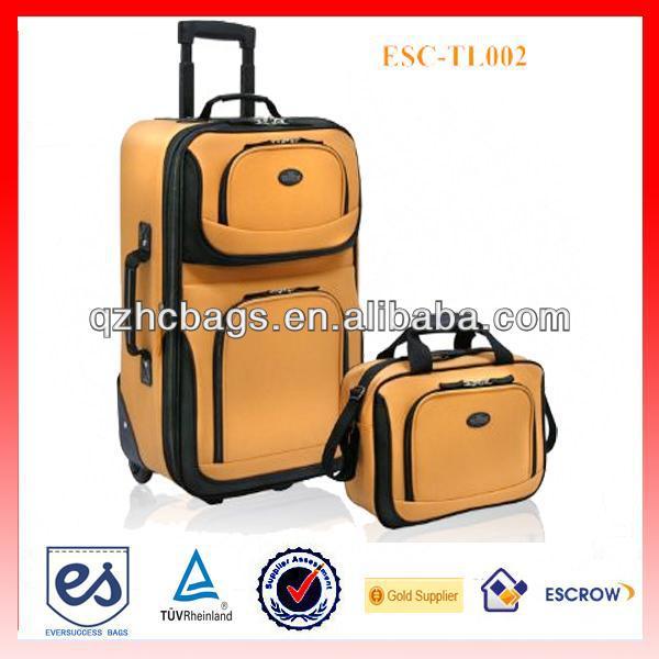 Unique Travel Bags Unique Yellow Two Piece Travel