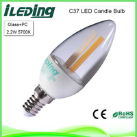 220 Volt 2.2W Flameless 5700K Cool white Candle LED
