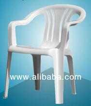 Stackable plastic chair, indoor, outdoor or garden