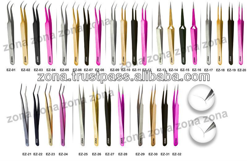 Professional Eyelash Extensions Tweezers Curved