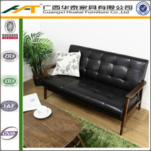 Comfortable Leather Sofa Furniture Modern Love Seat Leather Armchair