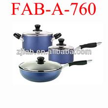6pcs Aluminum fashion cookware set, hot cooking pots and pans